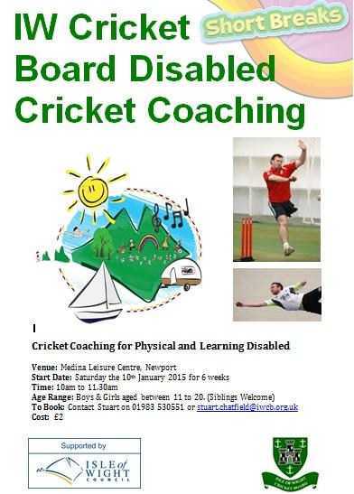 IW Cricket - Short Break Poster