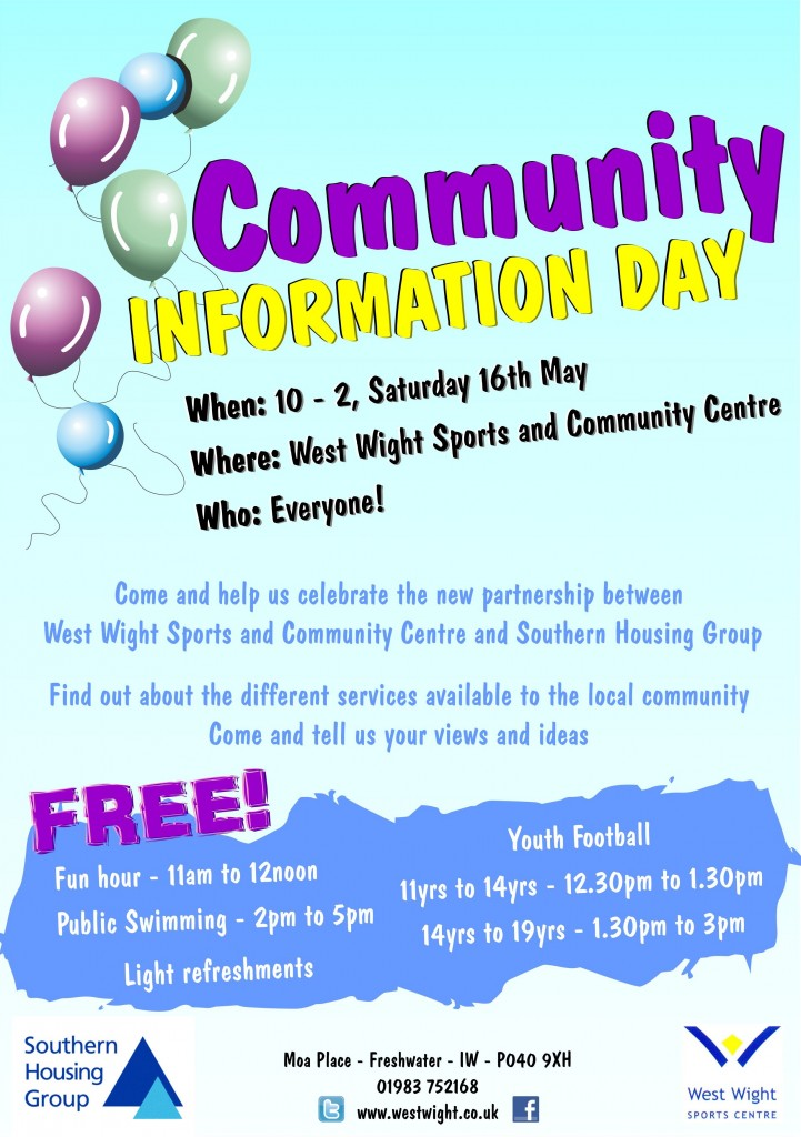 Community Info Day Poster
