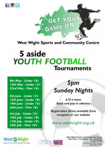 Youth 5aside Football Tournaments 2016